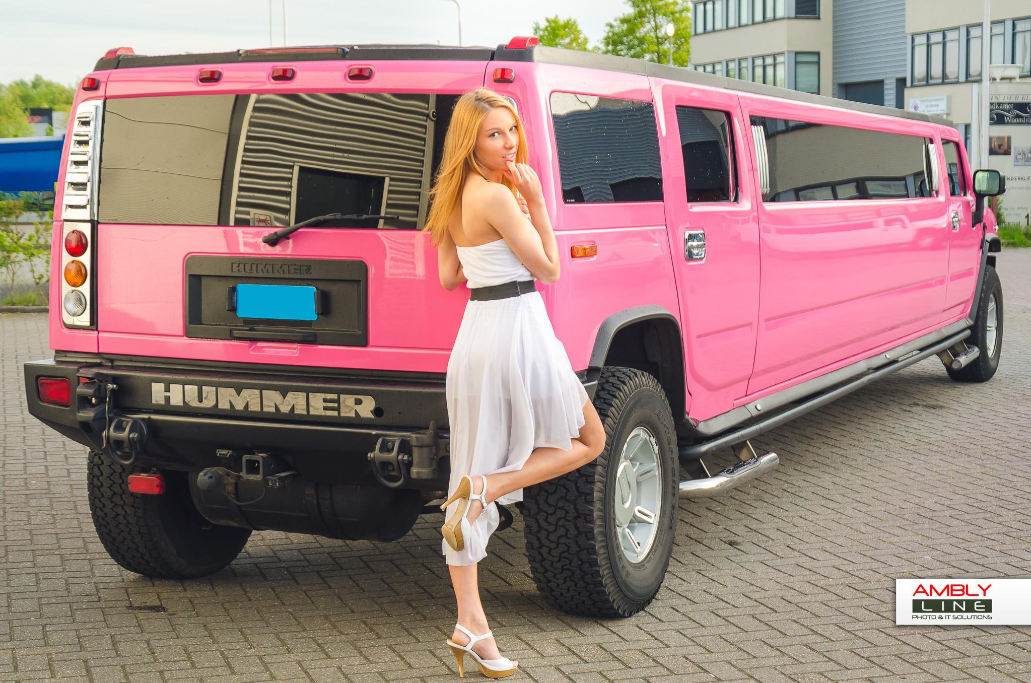 Hummer H2 roze fotogalerij 6